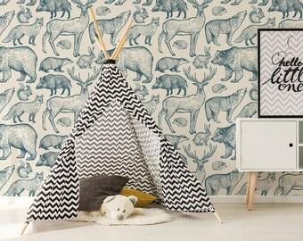 Animal wallpaper | Etsy