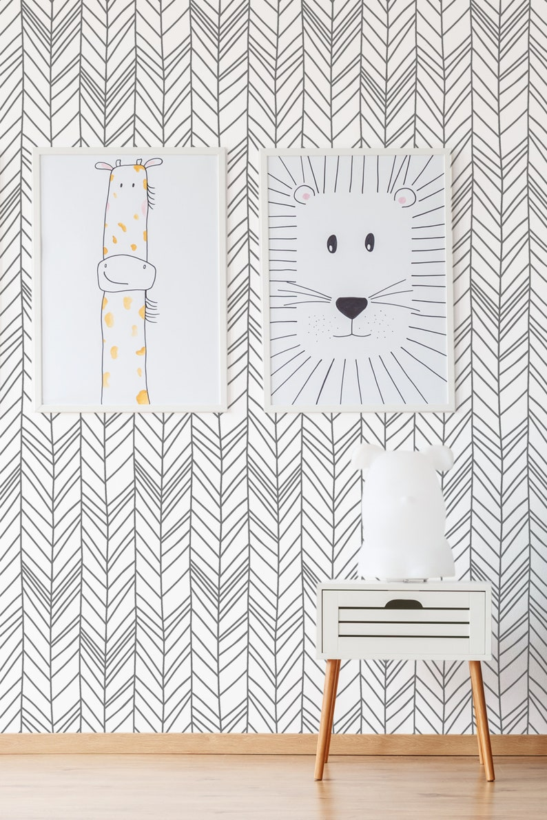 self adhesive wall mural minimalistic pattern nursery wallpaper temporary wallpaper# Abstract wallpaper kids room peel and stick mural