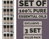 Scent and Soul - 6 x Top Picks Pure Essential Oil pack - Commercial grade - Aromatherapy -3 Pack Value Pack