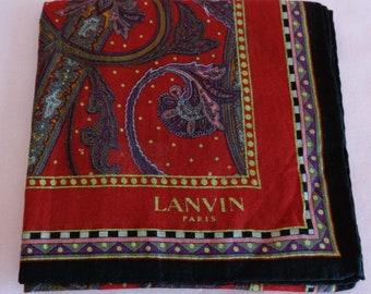 bc1a5733a4a LANVIN Paris coton mouchoir vintage Lanvin mouchoir