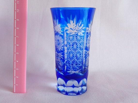 Japanese Edo Kiriko Cut Glass Shot Glass Satsuma Kiriko Etsy