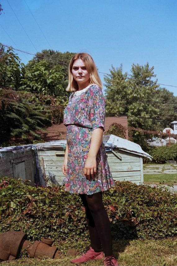 Vintage Carole Little floral dress - image 1