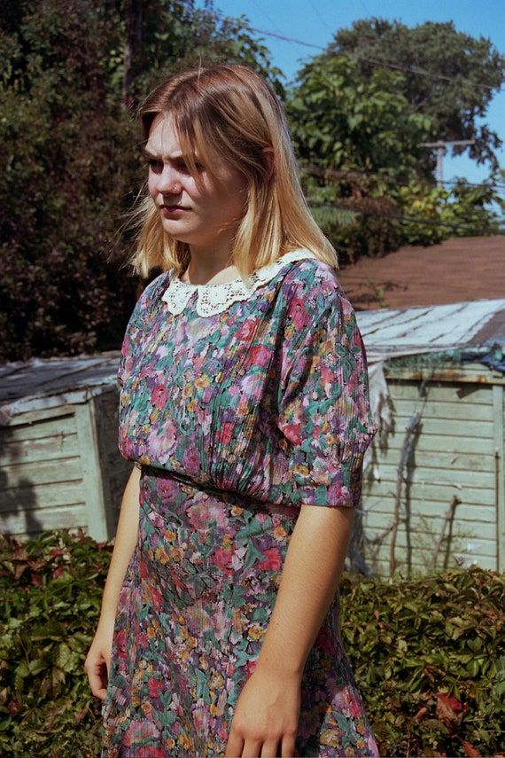 Vintage Carole Little floral dress - image 3