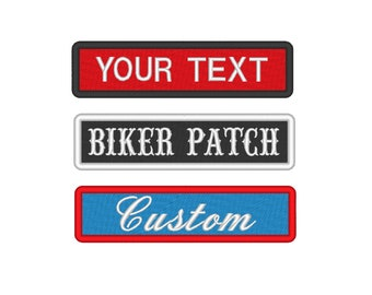 FREE Shipping 3X10 Custom Embroidered Name Tag Motorcycle Personalized Biker Patch Badge