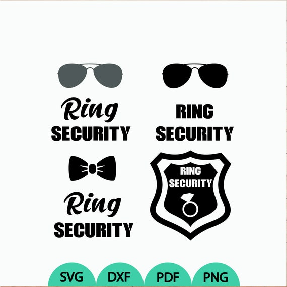 Ring Security Svg 4 Ring Security Clipart Ring Securit Vector Etsy