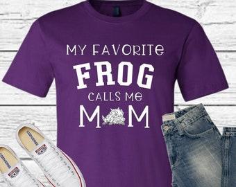 Purple TCU shirt, TCU Frog Mom shirt, Horned Frog shirt, TCU Frog Mom shirt, Frog mom shirt, Mom gift, Personalized Mom shirt
