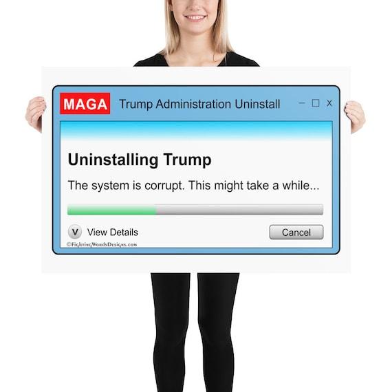 activist Uninstalling Trump Dialog Box Tote bag resist liberal tote political gift impeach Trump tote protest Trump progressive bag
