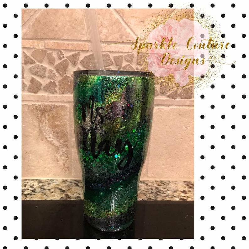 Custom Swirl Glitter Tumblers