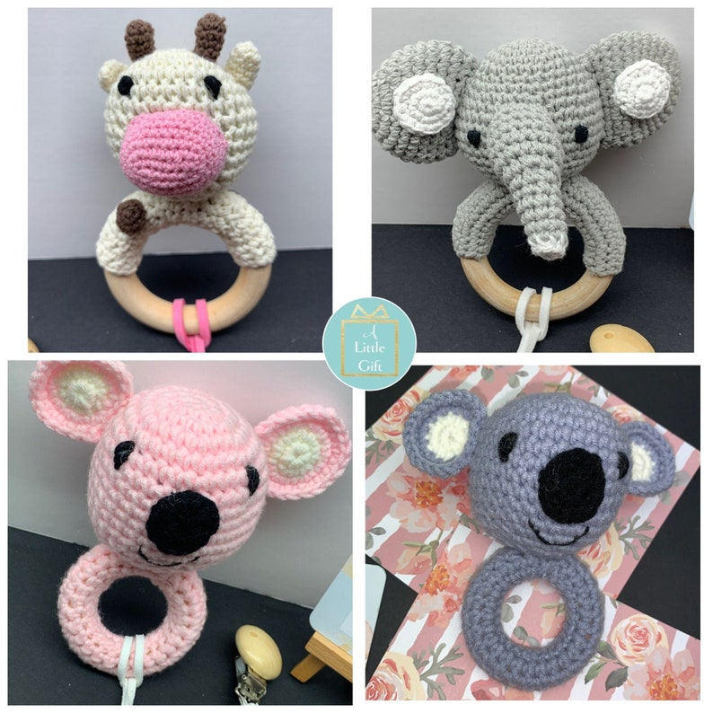 Baby rattle baby gift baby toy baby teether