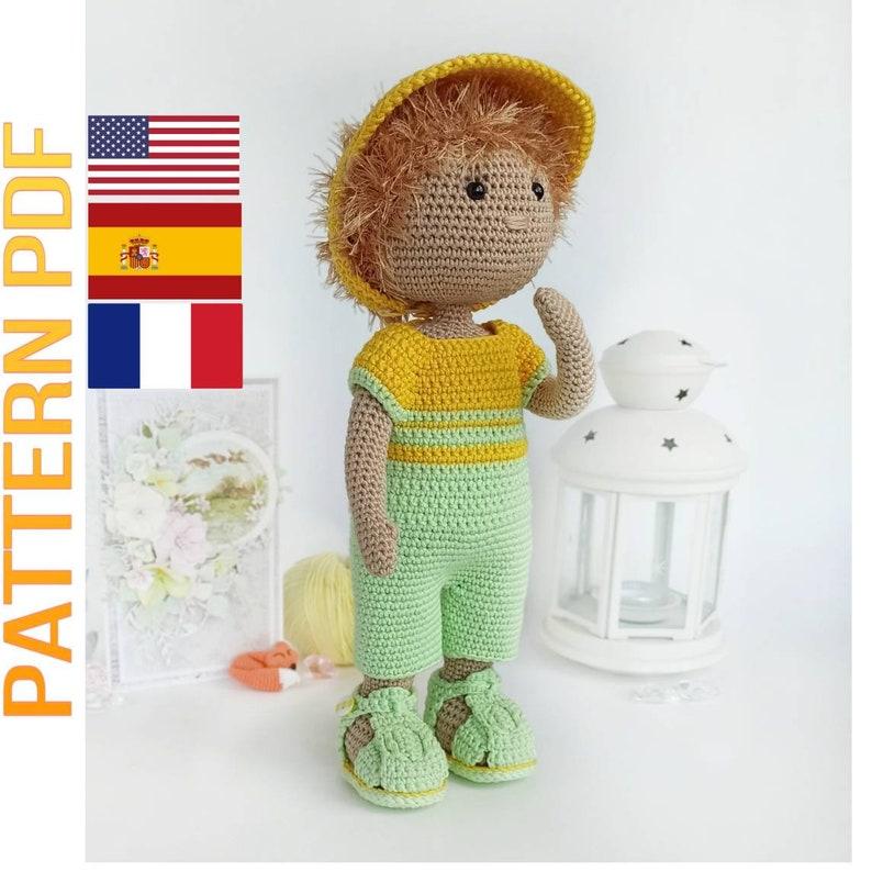 keepsake doll amigurumi doll pattern handmade doll pattern English,  Fran\u00e7ais,Espa\u00f1ol crochet boy doll pattern pattern soft doll