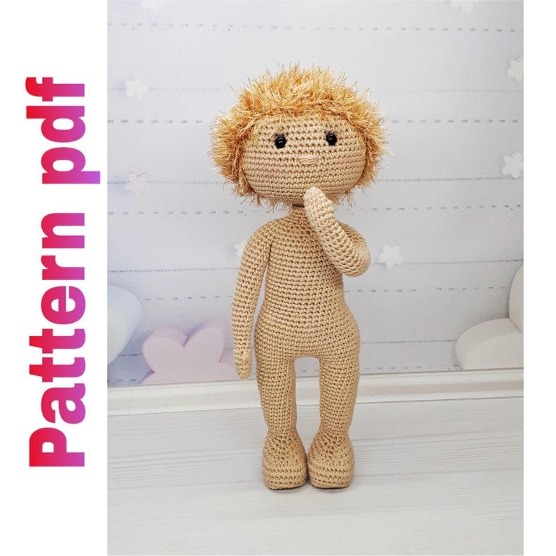 Realistic crochet doll body pattern   794x794