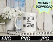 No coffee No workee teacher SVG, teacher PNG, JPEG, Teacher puns, Teachers shirts, Gifts for teachers, cricut design space