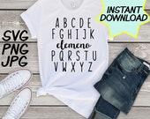 Teachers Alphabet SVG, cut file, PNG, jpeg, Teacher shirts, Gifts for teachers, cricut, silhouette, Instant download, teacher quote, digital