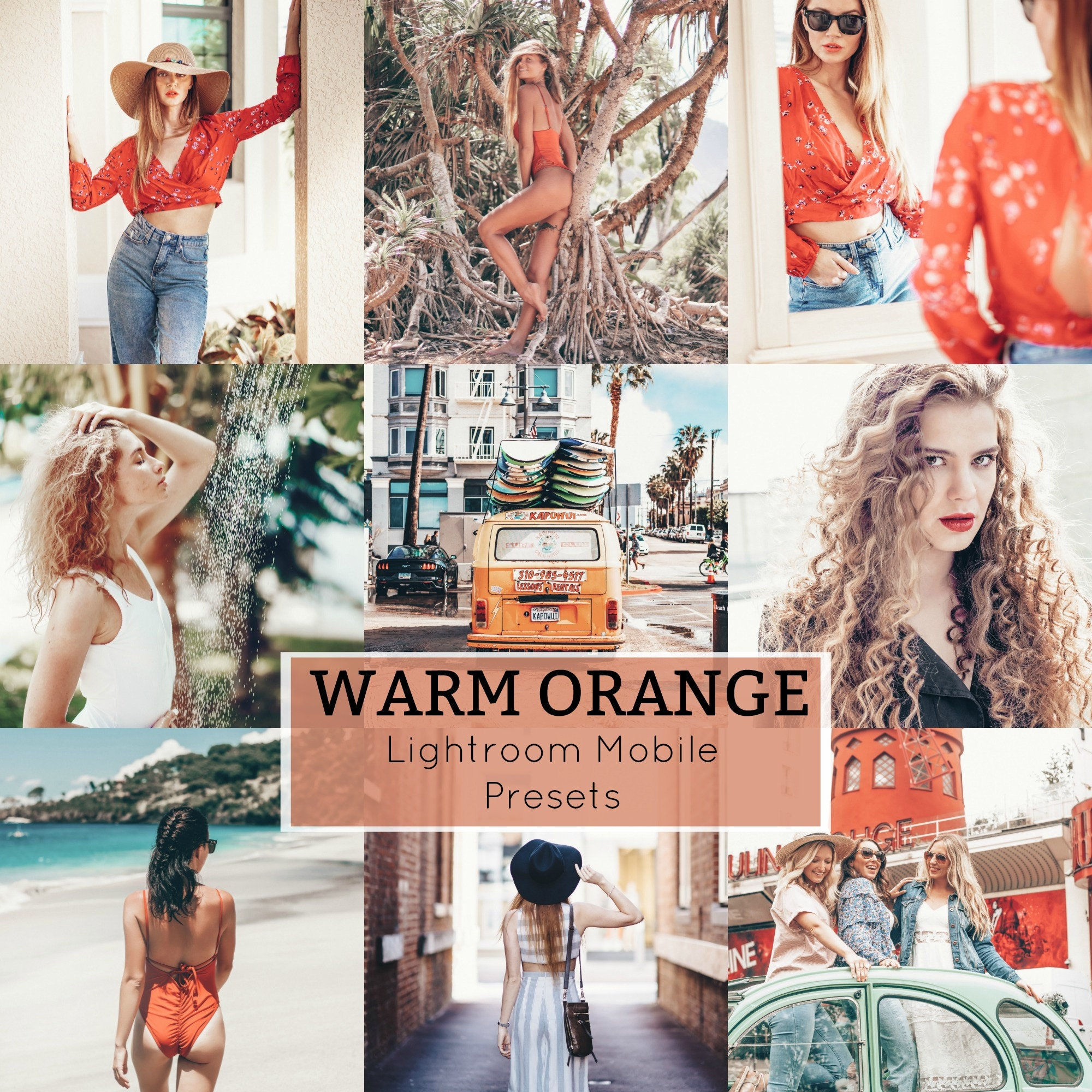 Lightroom Preset for Mobile Phone, Orange Preset, Warm Preset, Warm Orange  Preset Mobile, Blogger Presets, Influencer Presets, Light Airy