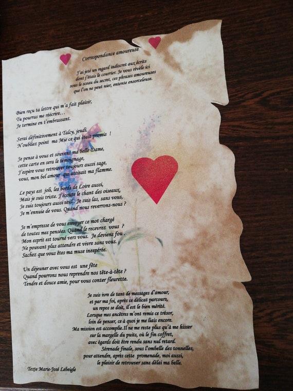 Poesie Papier Correspondance Amoureuse