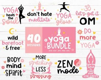 Yoga SVG Bundle, Meditation Svg files for Cricut, Mindfulness Svg Cut File, Yoga Bundles, Workout Shirt, Namaste SVG, Yoga Clipart