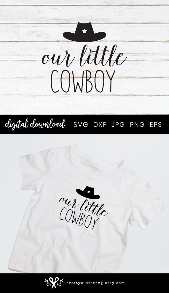 Little Cowboy Hat Svg Decor Cowboy Silhouette Clip Art Country Etsy