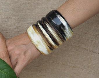 dd5eed2e316 Natural Buffalo Horn Bracelet Cuff Jewelry BC8.2