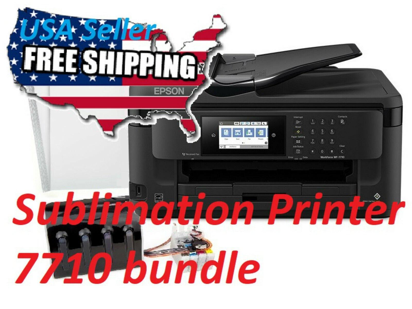 Epson WF-7710 Sublimation Printer Bundle CISS Kit,Large Format Printer A3+  13