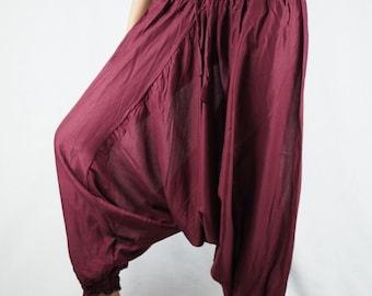 e2fe1ede88 Gypsy Harem Pants jumpsuit Hippies Drop Crotch Genie Aladdin pants Boho  Tribal Plus Size