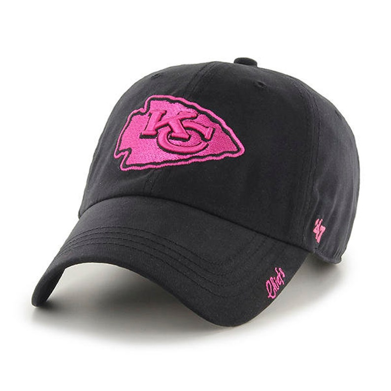 quality design e41c4 3c203 Kansas City Chiefs Ladies Hat, Black and Pink Chiefs Hat