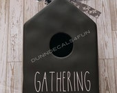 Gathering Decal for Birdhouse