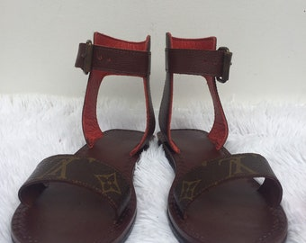 9c175c5f898 Upcycled Made to order Louis Vuitton Sandal