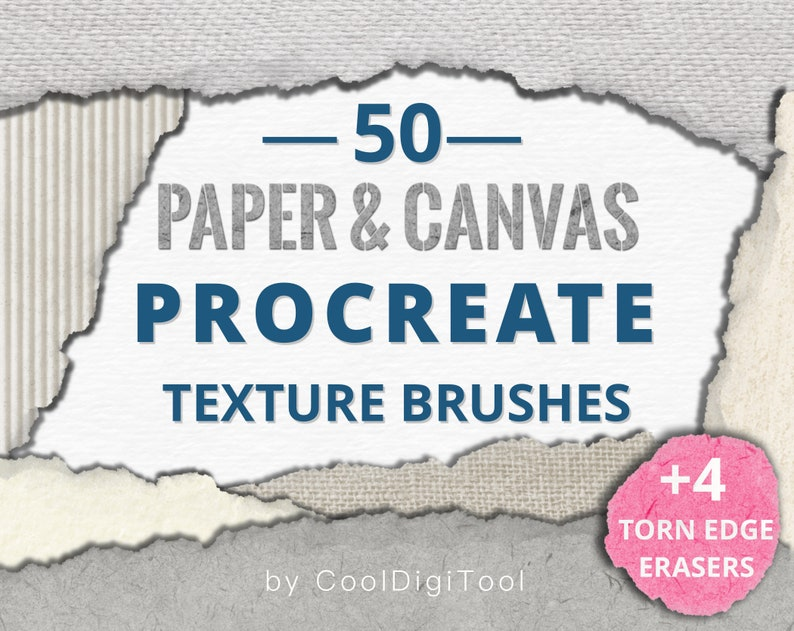 Paper Textures: 50 Procreate Texture Brushes with Organic image 0