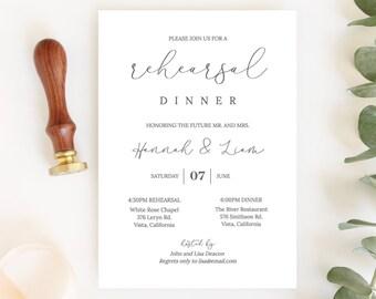 REHEARSAL DINNER INVITES