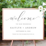 Wedding Welcome Sign Printable Welcome to our Wedding Sign Minimalist Wedding Sign Template Printable Poster Instant Download 108-11WS