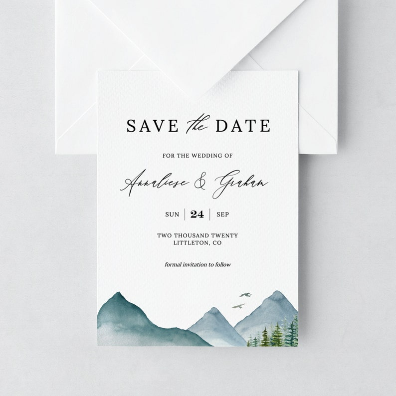Clara  Save the Date Template Mountain Save the Date Cards image 0