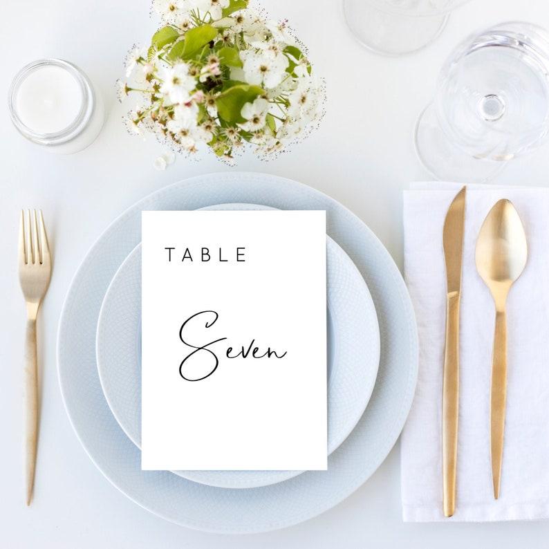 Lillie  Wedding Table Number Template Modern Minimalist image 0