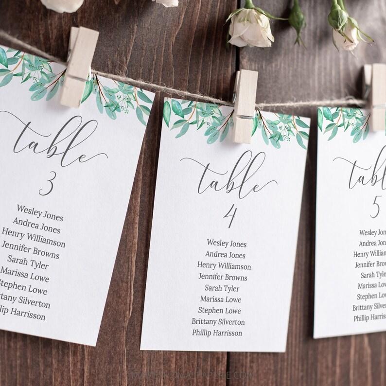 Modern Script Wedding Seating Chart Template Wedding Table image 0