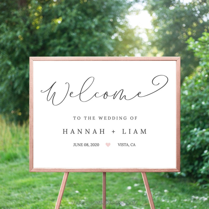 Wedding Welcome Sign Welcome to our Wedding Sign Simple image 0