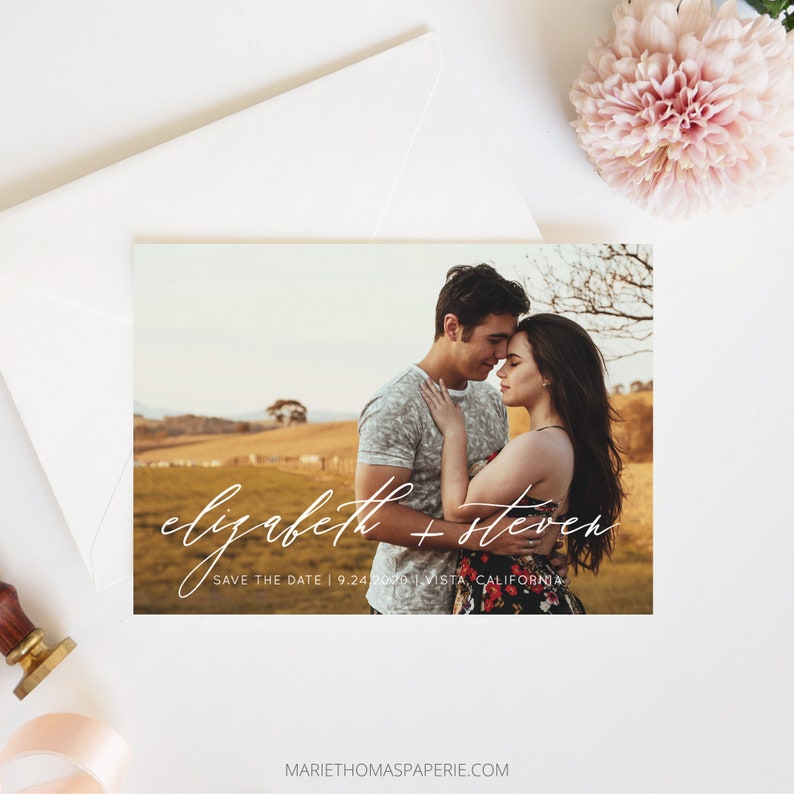 Save the Date Template with Photo Save the Date Cards image 0