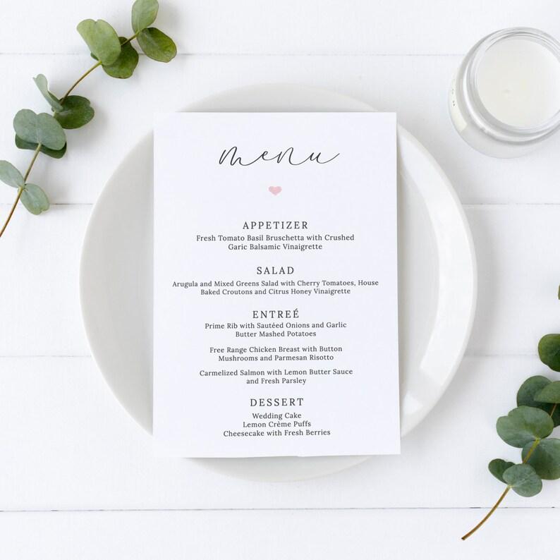 Lacie  Wedding Menu Template Elegant Script Wedding Menu image 0
