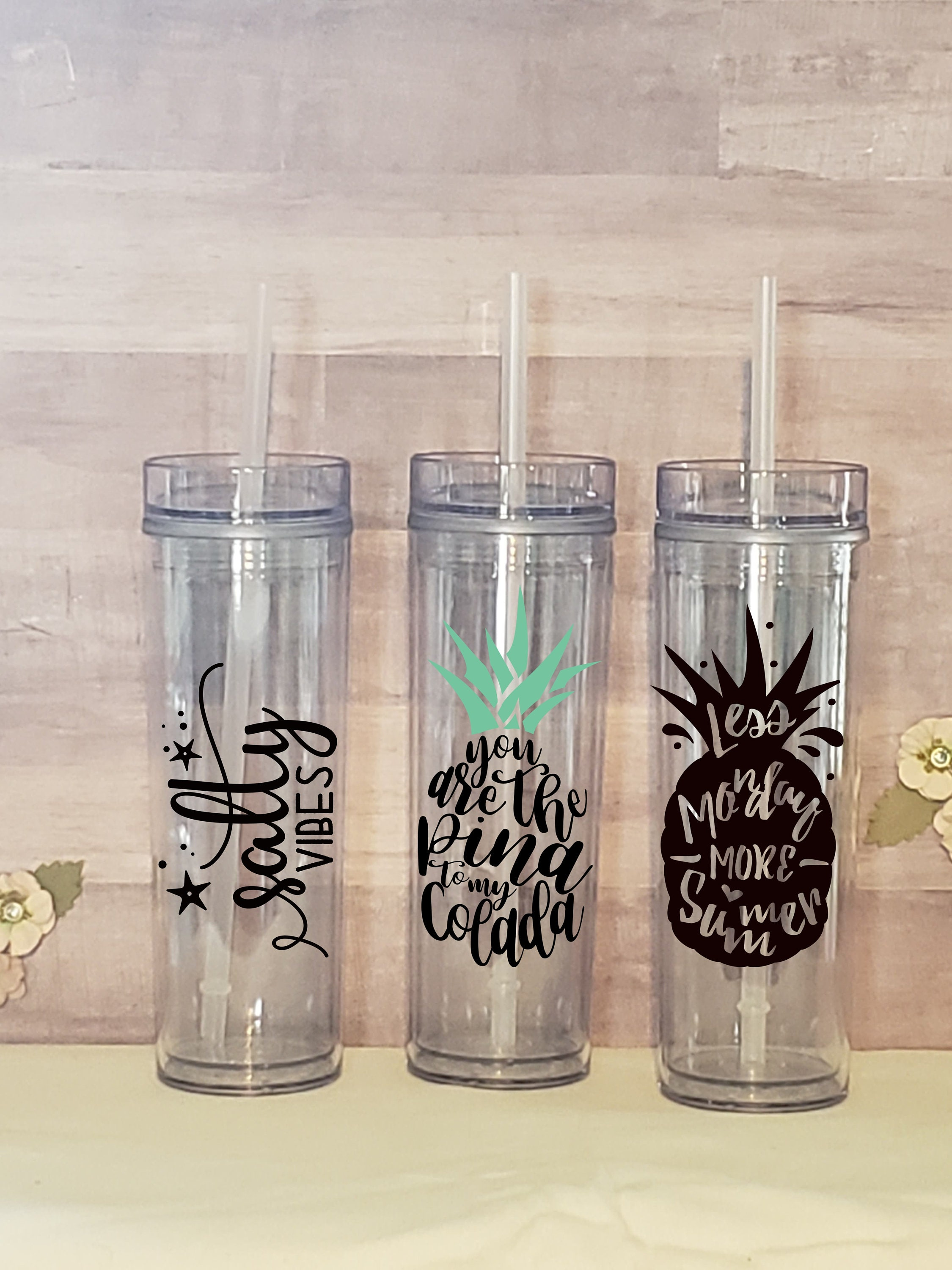 Tumblers with Straw * Summertime * Salt Life * Beach * Personalization Available for sale
