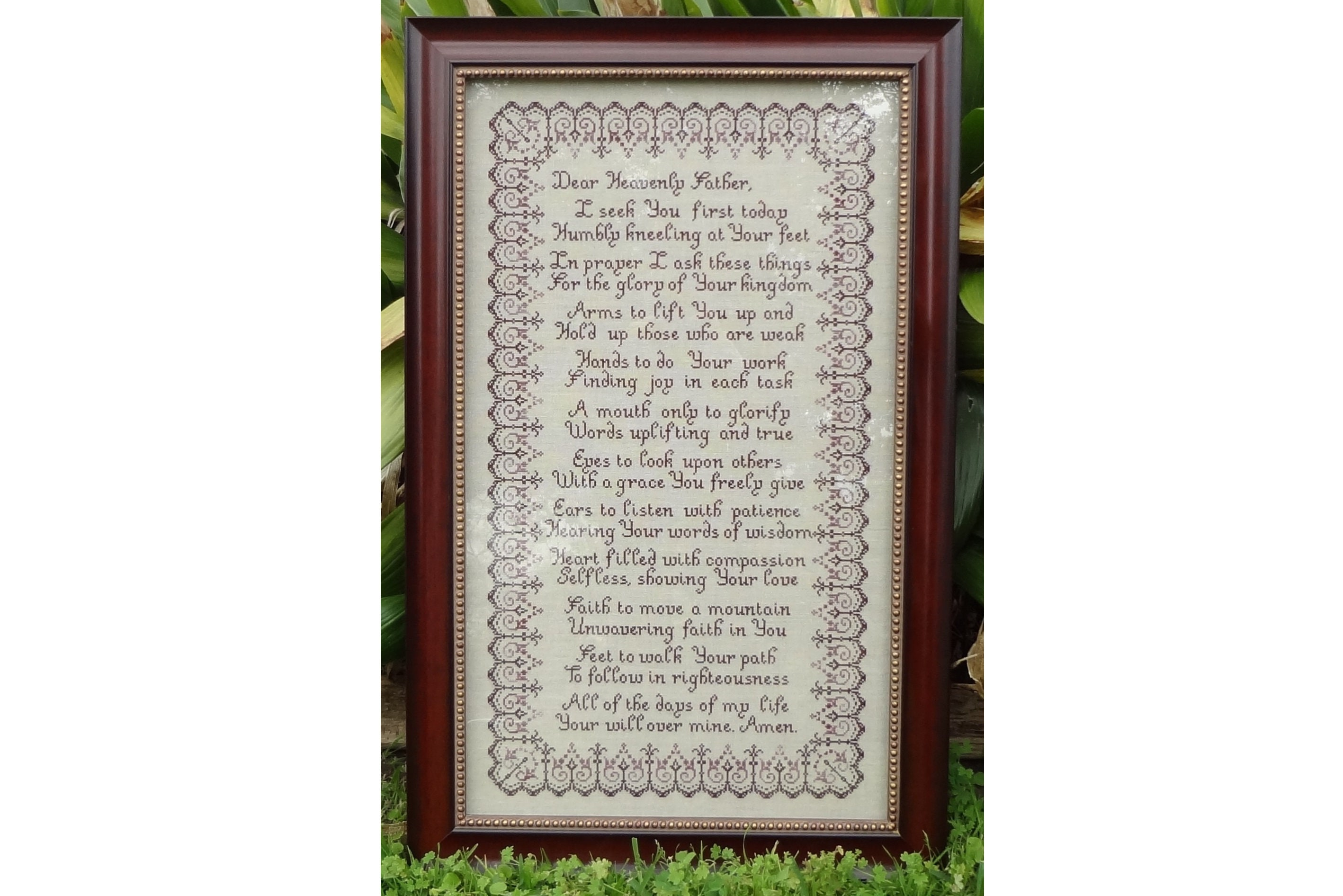 REMEMBER ME Poem CROSS STITCH PATTERN counted