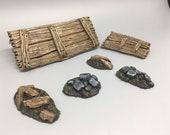 Sewer scatter terrain- (Modular terrain tiles for tabletop RPG)
