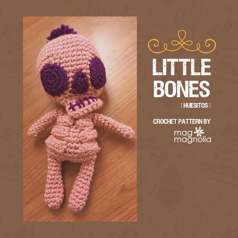 Little Bones Huesitos  Amigurumi PDF Crochet Pattern image 0