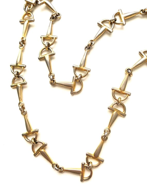 French vintage 1980s CELINE chain necklace in gilt