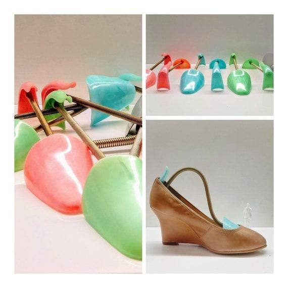 Set shoe spanners 50s pastel plastic