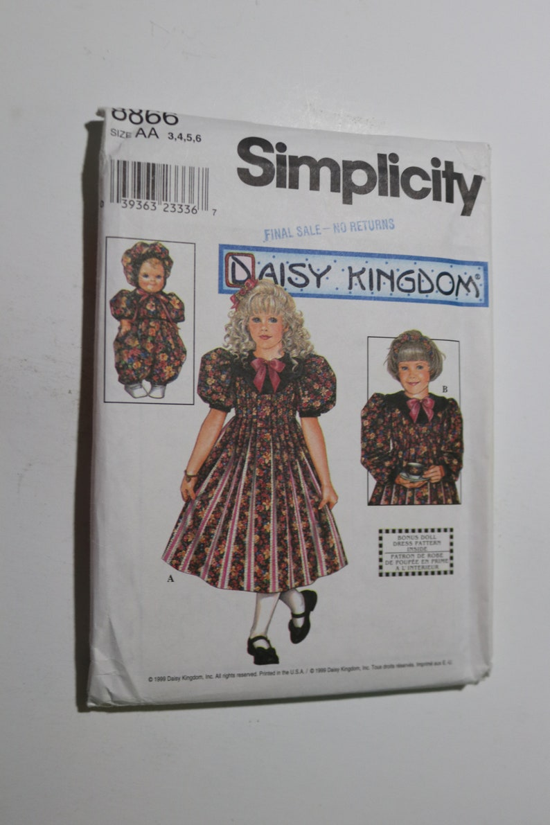 Simplicity Pattern 2348 Girls DAISY KINGDOM Long Sleeve Dress~Jacket~Purse