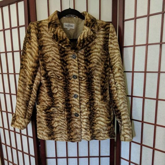 Original Tiger Print Velvet  Valentino Blazer