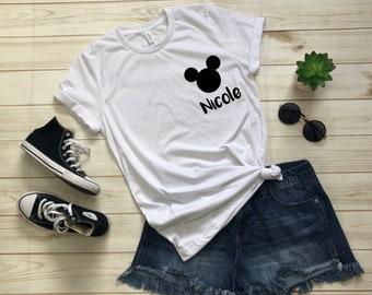 9f8ec942c Personalized Disney Inspired Scoop Neck Shirt, Disney Logos, Custom Disney  Shirt, Mickey Ears, Disney Fan