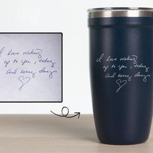 Actual Handwriting Gift Engraved Handwriting Tumbler 10 Oz Etsy