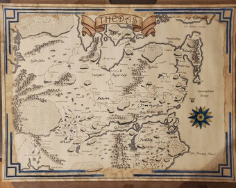 Map Of Thedas Etsy