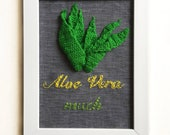 Aloe Vera Much Embroidered Frame Mother 39 s day Appreciation gift Grandparents Day Gift Father 39 s Day Gift