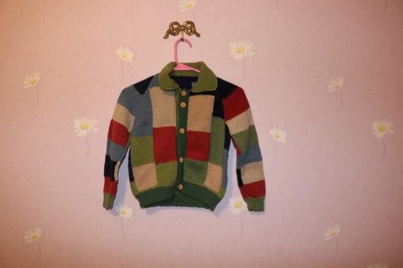OshKosh B/'Gosh Little Girls Purple Knit Cardigan Button Sweater