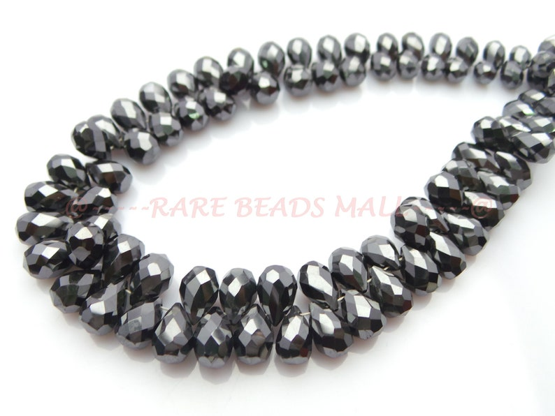 Moissanite Diamond Drop BeadsNatural Moissanite Diamond Faceted Tear Drop BriolettesMoissanite Diamond Briolette7-9 MM5 InchesSI-467